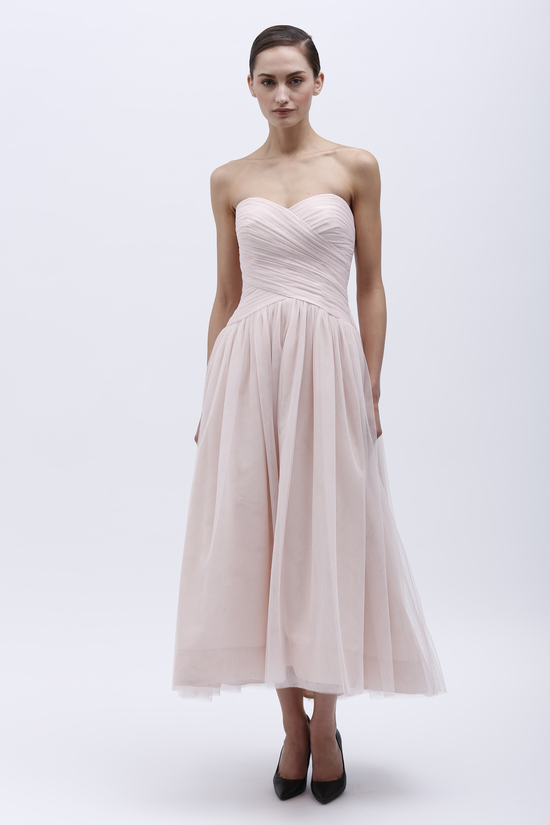 Monique Lhuillier Spring 2014 Bridesmaid Dress 450160 Blush