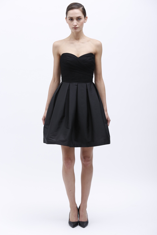 Monique Lhuillier Spring 2014 Bridesmaid Dress 450161 Black