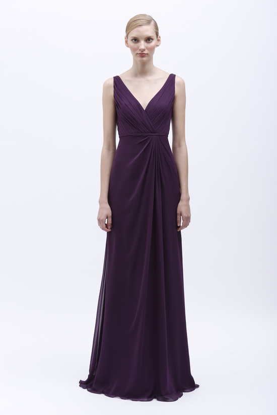 Monique Lhuillier Spring 2014 Bridesmaid Dress 450141 Plum