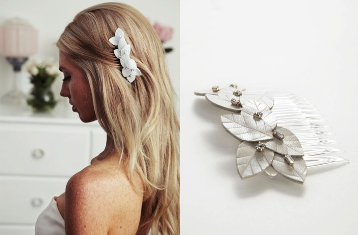 Leather-bridal-hair-clip-leaves-pearls.full