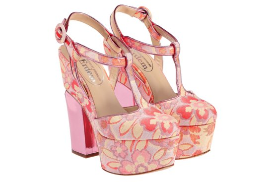 Floral print wedding platforms