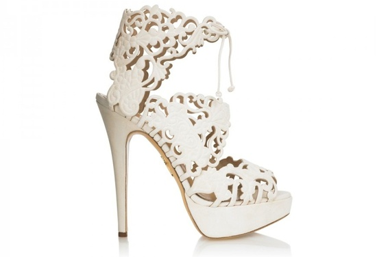 Ivory lace bridal booties wedding shoes