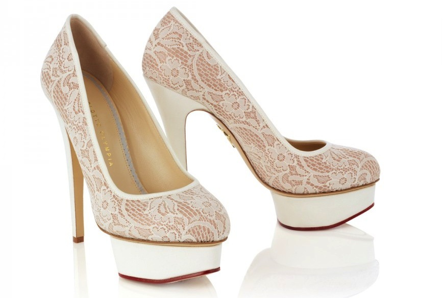 nude ivory lace wedding shoes