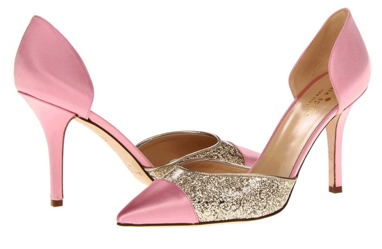 blush pink with gold wedding shoes