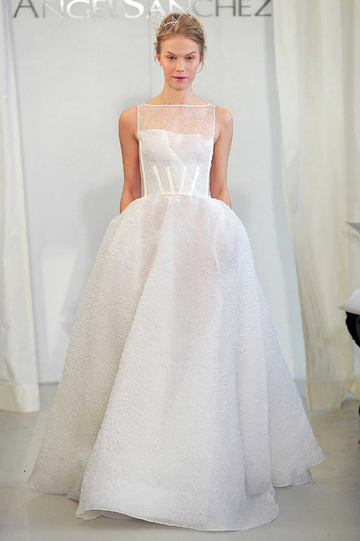 Angel Sanchez wedding dress Spring 2014 Bridal 1