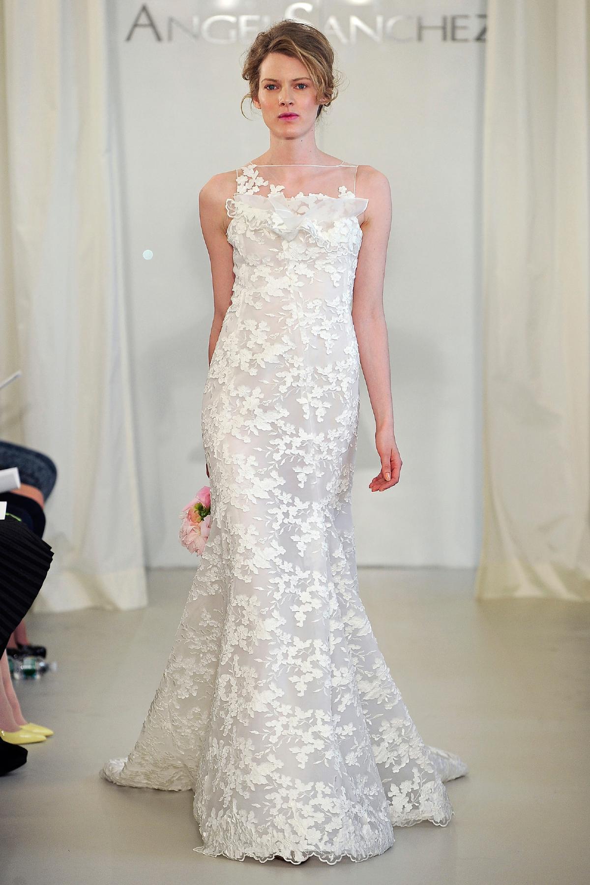 Angel Sanchez wedding dress Spring 2014 Bridal 12  OneWed.com