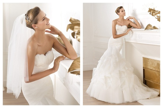 Pronovias wedding dress pre 2014 bridal Dreams collection Ledurne