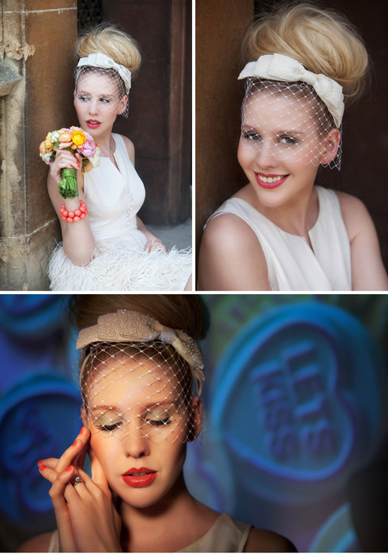 high bridal bun vintage inspired wedding style