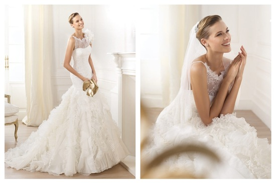 Pronovias wedding dress pre 2014 bridal Dreams collection Leandra