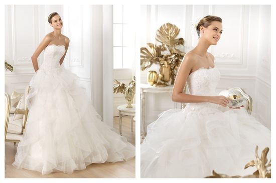 Pronovias wedding dress pre 2014 bridal Dreams collection Leante