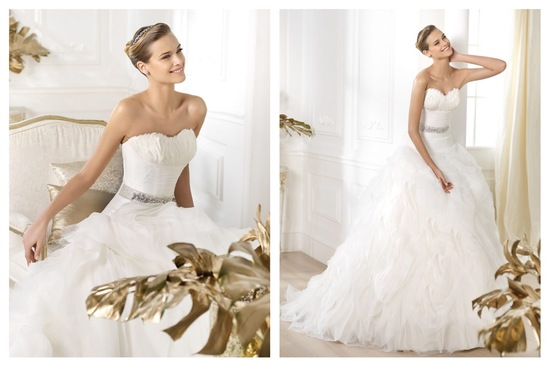 Pronovias wedding dress pre 2014 bridal Dreams collection Leina