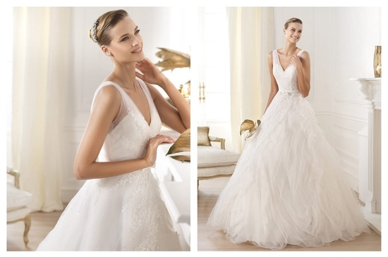 Pronovias wedding dress pre 2014 bridal Dreams collection Lehen