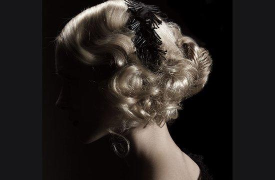 photo of retro bride wedding hairstyles vintage inspired bridal updo
