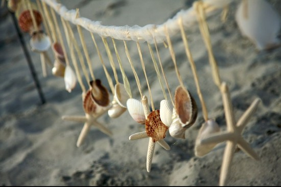 Starfish wedding garland for the beach
