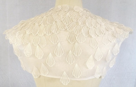 shell applique bridal bolero