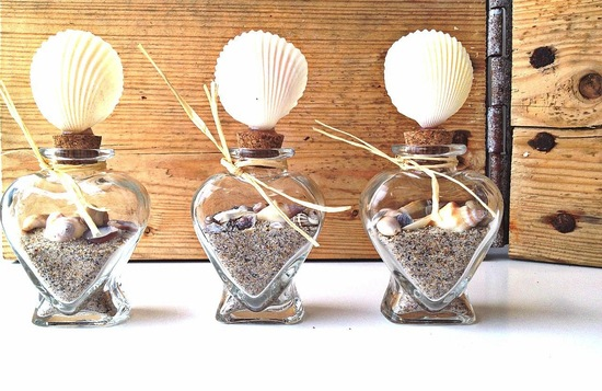 beach wedding terrariums