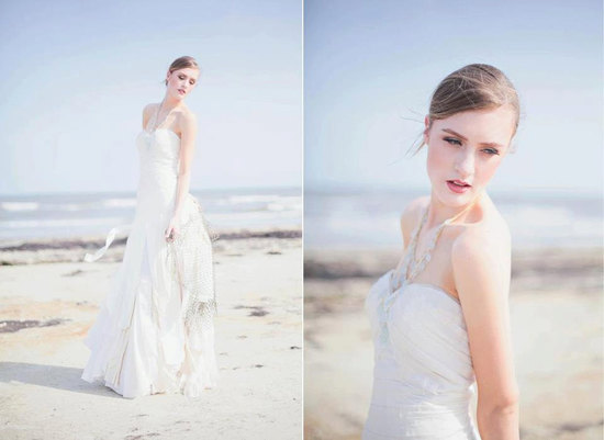 Eco friendly wedding dress for beach I Dos
