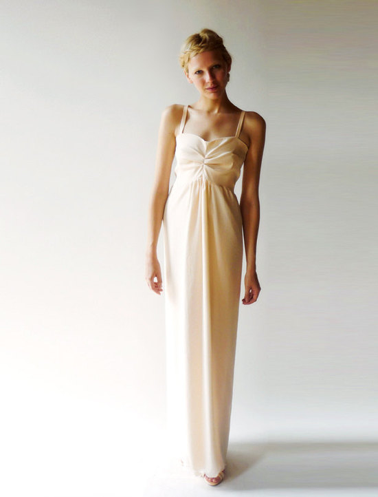 dahl wedding dress square sweetheart neck column