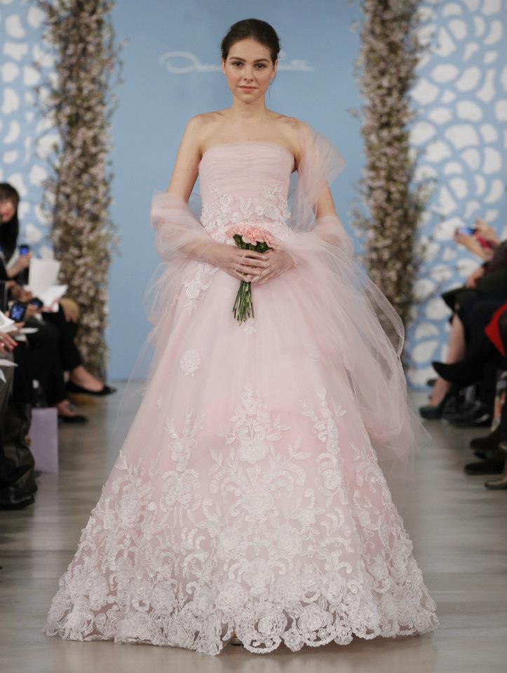 Wedding dress by oscar de la renta spring 2014 bridal 24 for De la renta wedding dresses