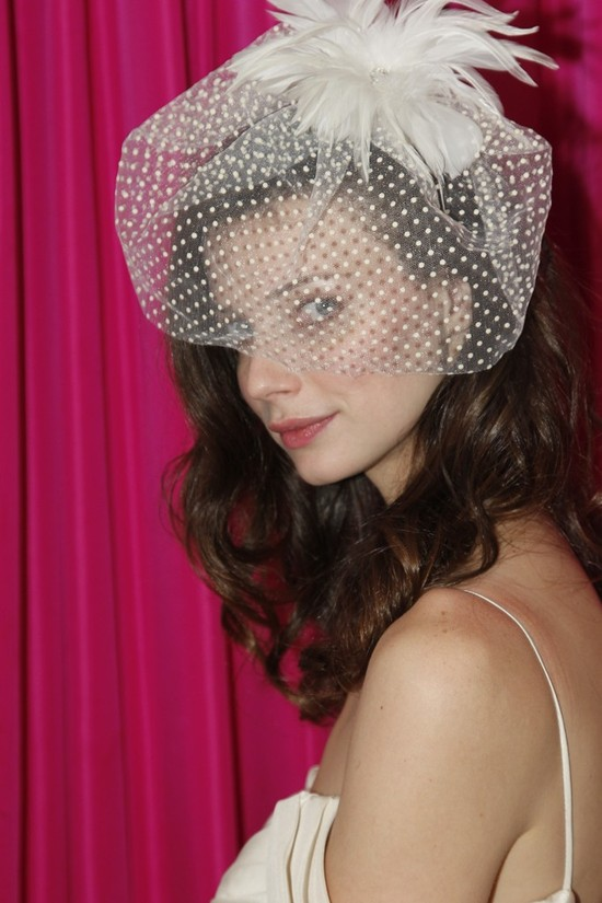 bebe bridal veil swiss dot blusher