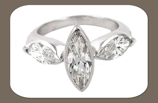 3 stone marquis diamond engagement ring