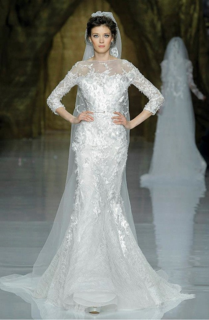 photo of Elie Saab Wedding Dress 2014 Pronovias Bridal 2