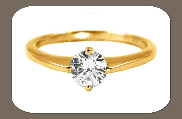 engagement rings simple round diamond gold band