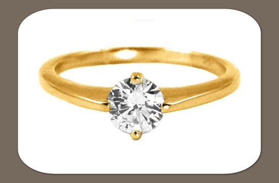 ethical engagement rings simple round diamond gold band
