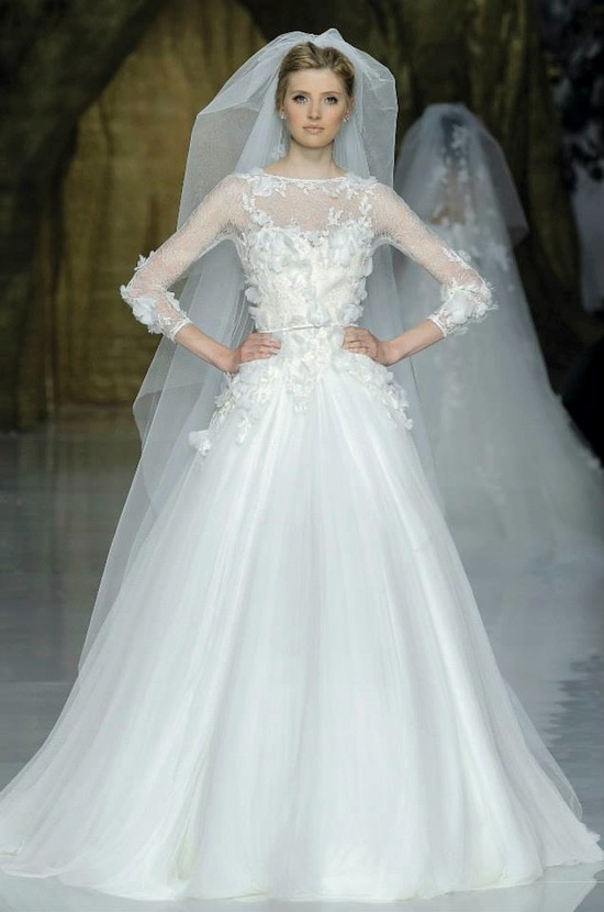 Elie Saab Wedding Dress 2014 Pronovias Bridal 5