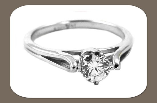 ethical engagement ring round diamond