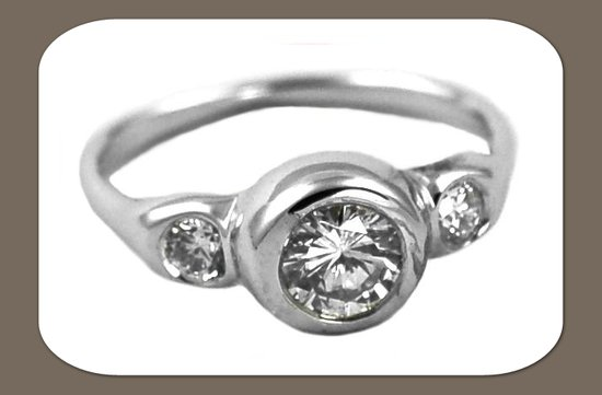ethical engagement rings 3 stone diamond