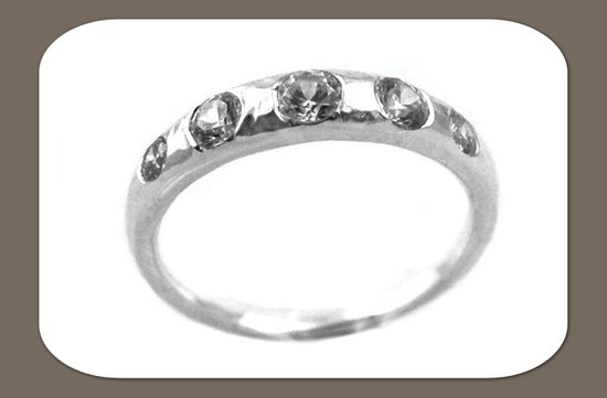 ethical wedding band bride round diamonds set in white gold