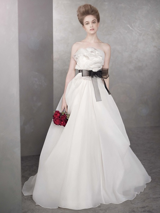 photo of white by vera wang wedding dress spring 2012 bridal gowns vw351105