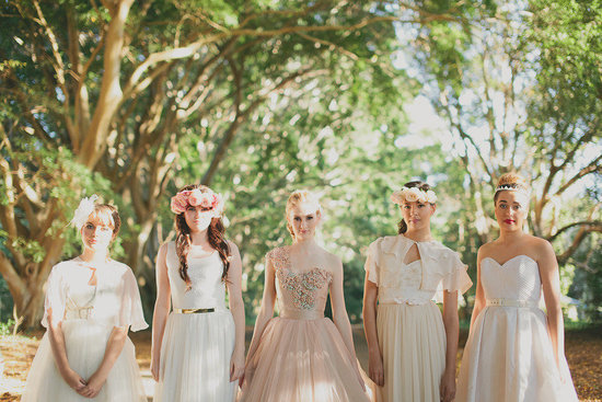 Romantic wedding party with opulent bride