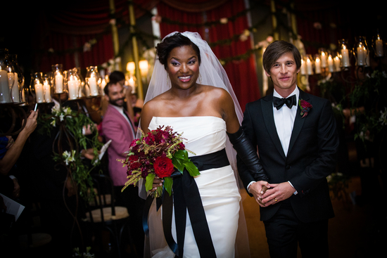 Vera Wang inspired bride black and white wedding style