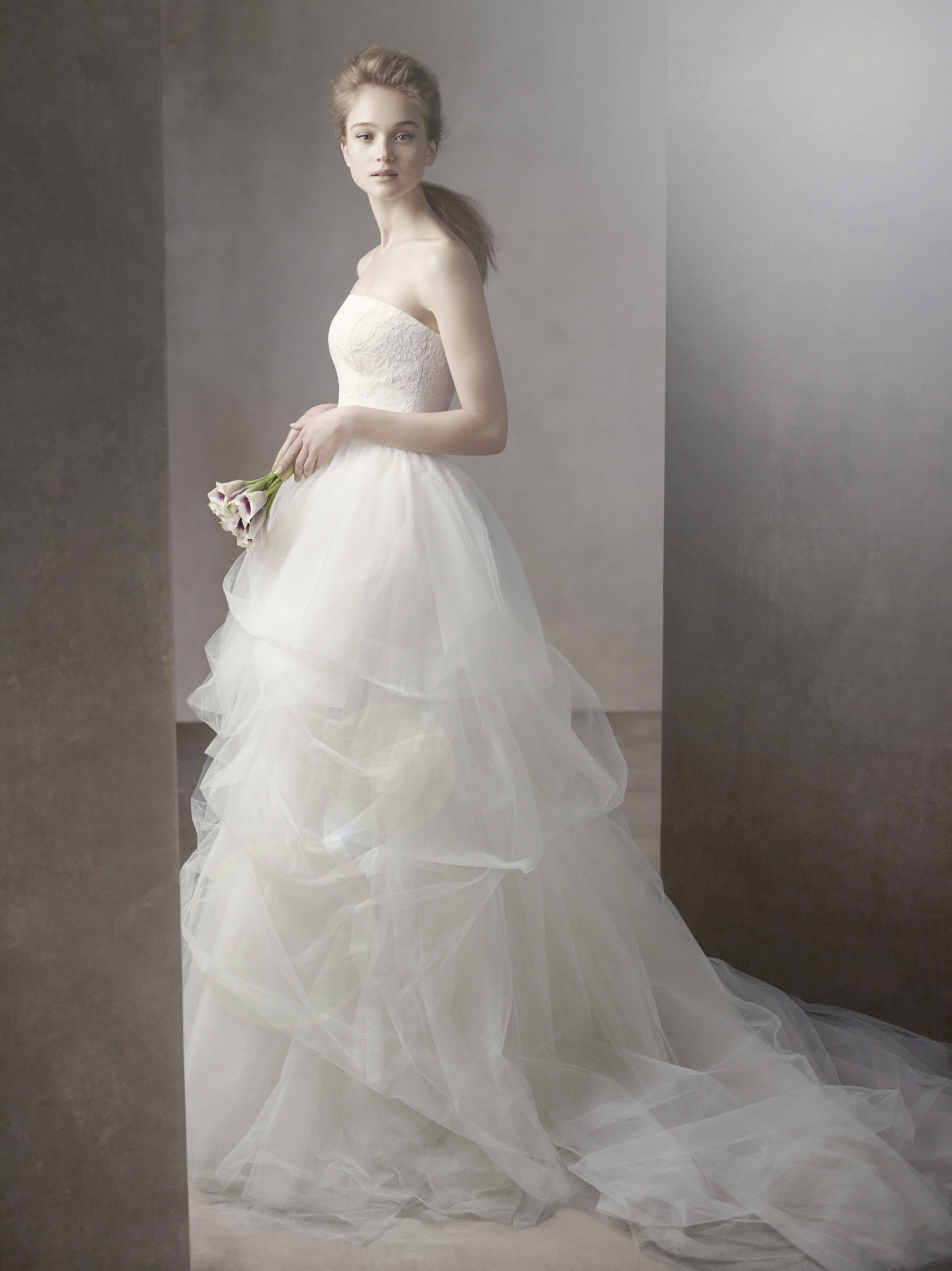 White by vera wang wedding dress spring 2012 bridal gowns for White vera wang wedding dresses