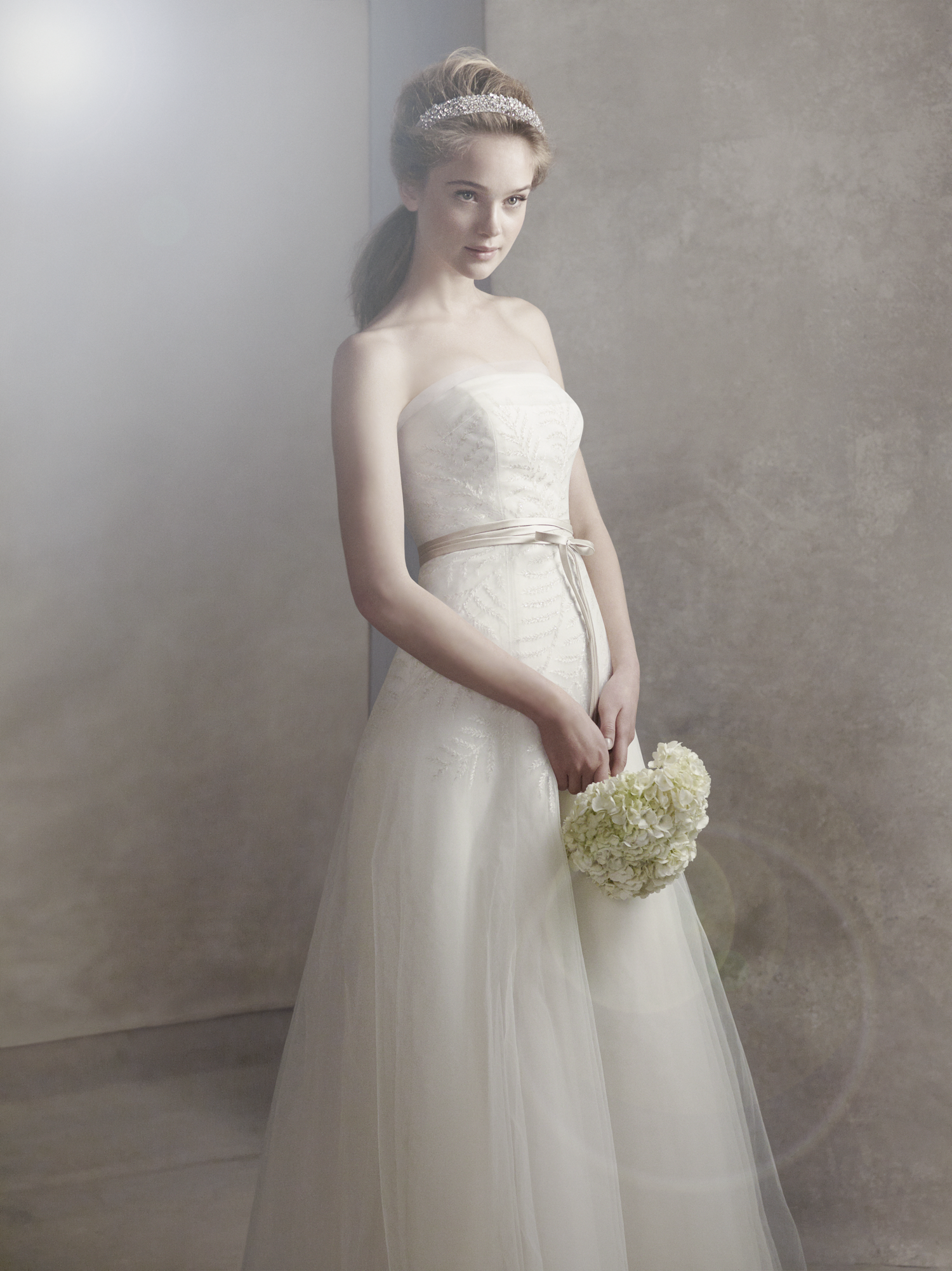 White by vera wang wedding dress spring 2012 bridal gowns for Vera wang used wedding dress
