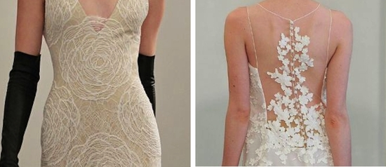 3 lace wedding dress trends spring 2014 fall 2013 modern angel sanchez vera wang
