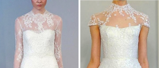 4 lace wedding dress trends spring 2014 fall 2013 illusion necklines
