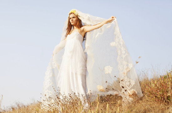Boho wedding style wedding dress by Grace Loves Lace
