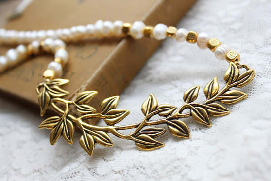 gold bohemian bridal necklace