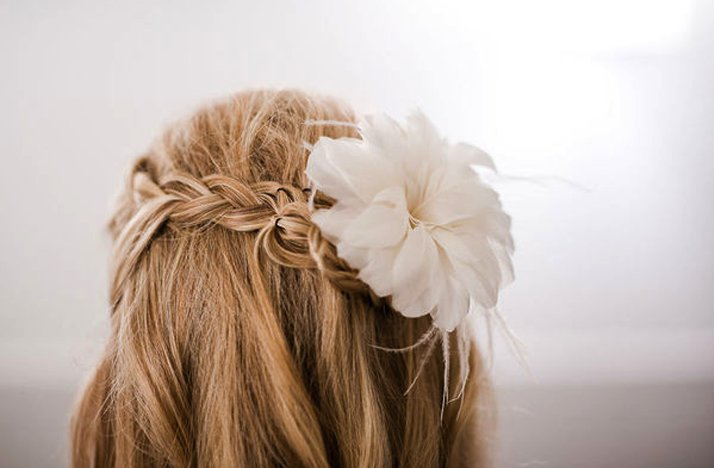 Braided-wedding-hairstyle-half-up-with-flower.full