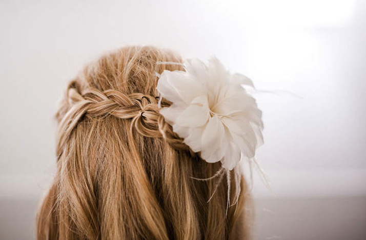 Wedding Hairstyles Half up Braids Braided Wedding Hairstyle Half