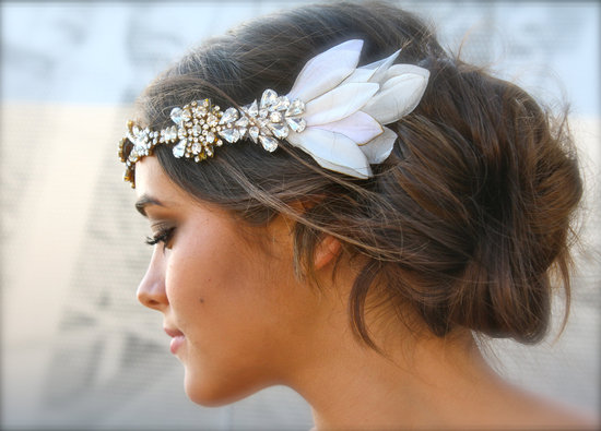 vintage bohemian wedding headpiece
