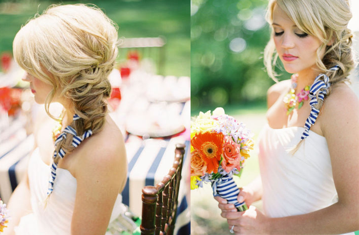 Wedding Hairstyle Loose Side Braid