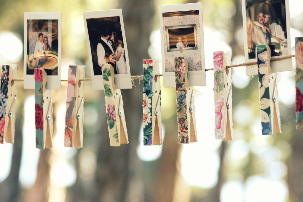 floral clothespins for bohemian weddings