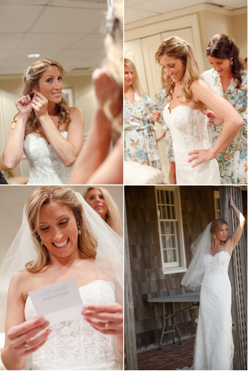 Real Wedding Long Island Throo Williams Photography by Verdi Bride Getting Ready