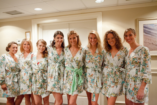 Real Wedding Long Island Throo Williams Photography by Verdi Bridesmaids Bathrobes