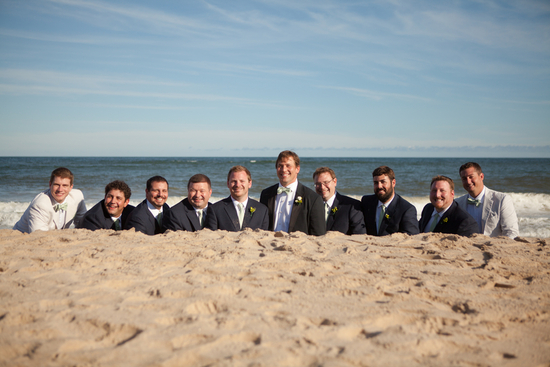 Real Wedding Long Island Throo Williams Photography by Verdi Groomsmen Beach