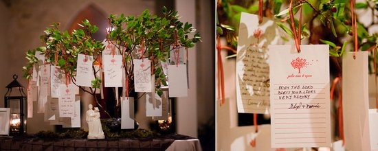 romantic wishing tree wedding reception